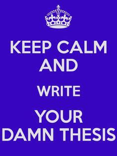 Writing your phd thesis